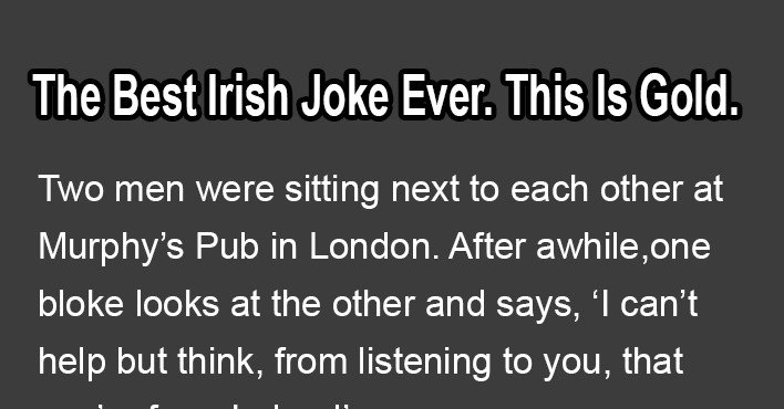 best irish jokes which will make you laugh