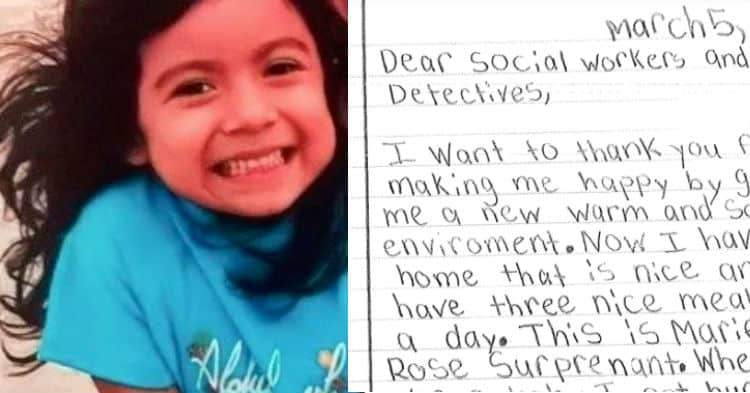 8 year old girl who was saved from abusive parents pens letter to